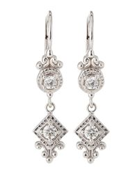 Penny Preville | Metallic Square Rounddrop Diamond Earrings | Lyst