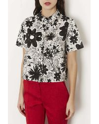 TOPSHOP - Multicolor Tokyo Flower Shirt - Lyst