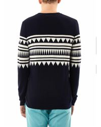 Chinti & Parker - White Aztecintarsia Cashmere Sweater for Men - Lyst