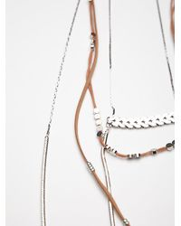 Free People | Brown Groupie Layered Necklace | Lyst