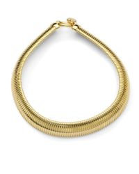 1ar | Metallic Ribbed Snake Collar Necklace | Lyst