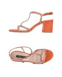 Alberto Gozzi - Orange Highheeled Sandals - Lyst