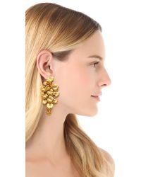 Aurelie Bidermann - Metallic Nympheas Earrings - Lyst