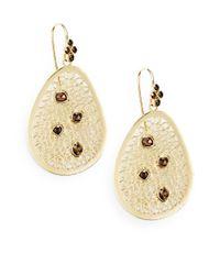 Bavna | Metallic .72 Tcw Diamond & 18k Yellow Gold Filigree Earrings | Lyst