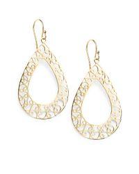 Bavna - 18k Yellow Gold Filigree Earrings - Lyst