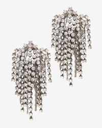 DANNIJO - Metallic Waterfall Crystal Earrings - Lyst