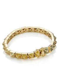 Eddie Borgo | Metallic Rainbow Pavé Pyramid Bracelet | Lyst