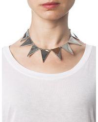 Eddie Borgo | Metallic Silver Plated Triangle Collar | Lyst