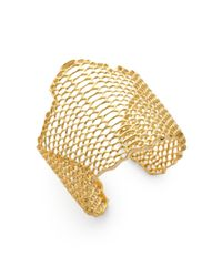 Elizabeth and James | Metallic Openwork Cuff Braceletgold | Lyst
