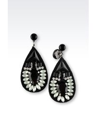 Emporio Armani - Green Earrings - Lyst