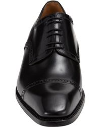 Harris - Black Whipstitched Cap Toe Blucher for Men - Lyst