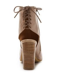 Jeffrey Campbell - Brown Quincy Open Toe Booties - Lyst
