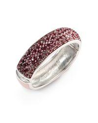 Judith Leiber | Purple Paparazzi Glitz Up Swarovski Crystal Bangle Bracelet | Lyst