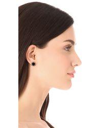 kate spade new york - Metallic Secret Garden Stud Earrings - Jet/Clear - Lyst