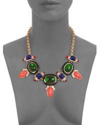Kenneth Jay Lane - Multicolor Deco Bib Necklace - Lyst