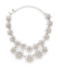 Kenneth Jay Lane - Metallic Starburst Doublerow Necklace - Lyst