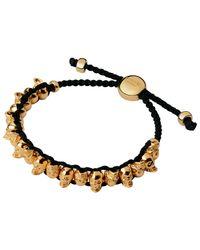 Links of London | Black Rose Gold Vermeil Skull Friendship Bracelet | Lyst