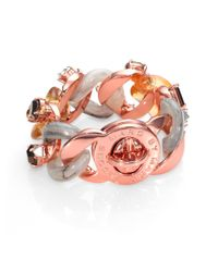 Marc By Marc Jacobs - Pink Katie Stoneembellished Turnlock Bracelet - Lyst