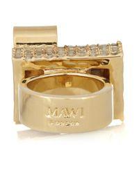 Mawi | Metallic Goldplated Swarovski Crystal Ring | Lyst