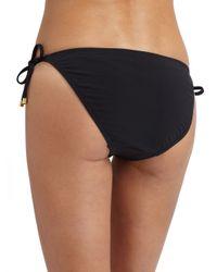 Natori | Black Embellished String Bikini Bottom | Lyst
