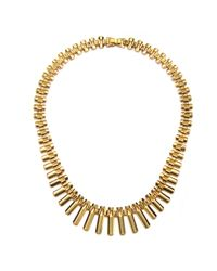Piper Strand   Metallic Simple Gold Collar Necklace   Lyst