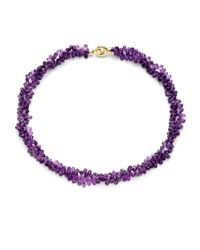 Saks Fifth Avenue - Purple Amethyst Briolette Doublestrand Necklace - Lyst