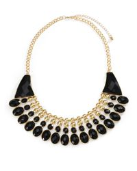 Saks Fifth Avenue - Metallic Faceted Bib Necklace - Lyst