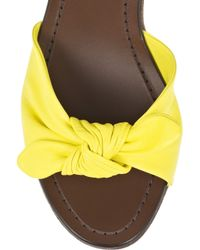 Sigerson Morrison - Yellow Leather Wedge Sandals - Lyst
