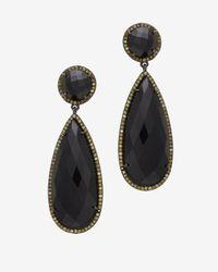 Susan Hanover - Black Faceted Stone Post Earrings - Lyst