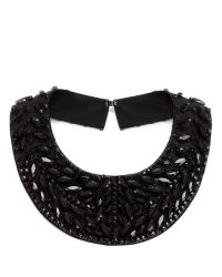 Ted Baker | Black Berall Large Beaded Collar | Lyst