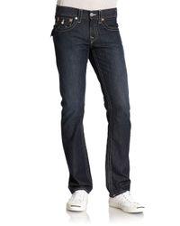 True Religion - Blue Ricky Straight Mens Jean for Men - Lyst