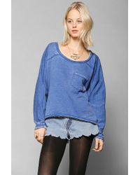 Urban Outfitters | Blue Sparkle Fade Burnout Sweatshirt | Lyst
