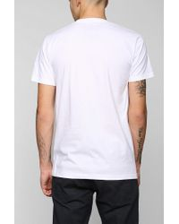 Urban Outfitters | White Faded Variegated Stripe Tee for Men | Lyst