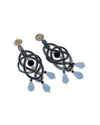 Anna E Alex - Gray Blue Passementerie Chandelier Earrings - Lyst