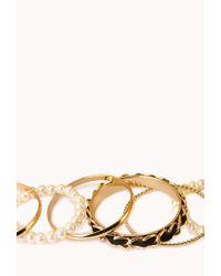 Forever 21 - Black Prettytough Bracelet Set - Lyst