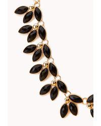 Forever 21 - Metallic Floral Fantasy Bib Necklace - Lyst