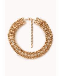 Forever 21 | Metallic Secret Glam Choker Necklace | Lyst