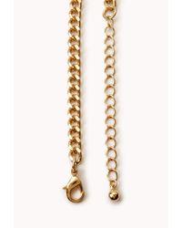 Forever 21 - Blue Bejeweled Bib Necklace - Lyst