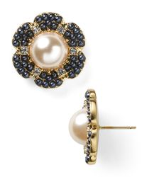 kate spade new york | White Park Floral Stud Earrings | Lyst