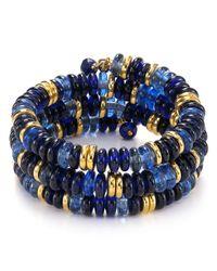 Lauren by Ralph Lauren - Blue Round Hill Coil Bracelet - Lyst