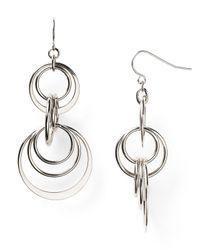 Lauren by Ralph Lauren - Metallic Round Hill Orbital Drop Earrings - Lyst