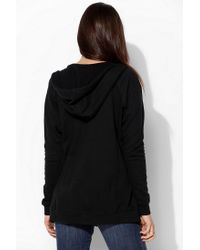Urban Outfitters - Black Bdg Dolman Zipup Hoodie Sweatshirt - Lyst