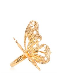 Alexander McQueen - Metallic Butterfly Ring - Lyst