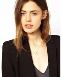 ASOS - Metallic Limited Edition Wishbone Necklace - Lyst