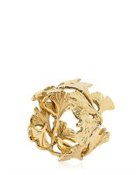 Aurelie Bidermann - Metallic Ginko Feather Ring - Lyst