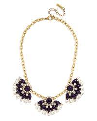 BaubleBar - Blue Frida Fan Necklace - Lyst