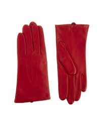 Dents - Red Classic Smooth Grain 3 Point Gloves - Lyst