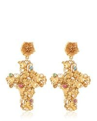 Dolce & Gabbana | Metallic Cross Clip Earrings | Lyst