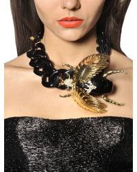 DSquared² | Black Jeweled Beetle Necklace | Lyst