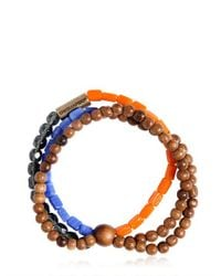 DSquared² - Multicolor Triple Beaded Elasticated Bracelet for Men - Lyst